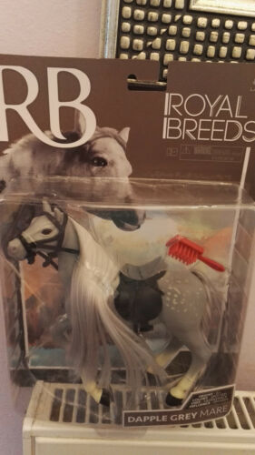 Stallion + Quarter Horse ROYAL BREEDS HORSE PLAYSET Choose From Grey Mare