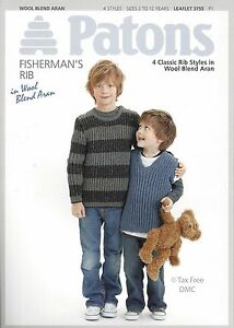 782a736ef VAT Free Knitting PATTERN ONLY Patons Easy Knits Rib Jumpers 3755 ...