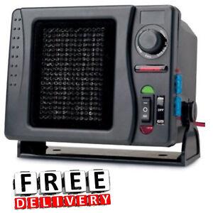 Идет загрузка изображения Portable Ceramic Car Heater 12v Fan Swivel Base
