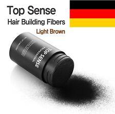 Top Sense Hair Building Fibers Powder German Natural Ingredients Light Brown