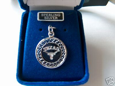 Sterling Silver 20mm University of Texas Longhorns Engraveable Charm