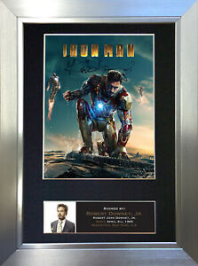 IRON MAN Robert Downey Jr Signed Autograph Mounted Reproduction Photo A4 587