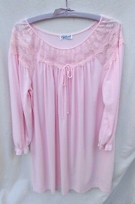 Gilead Pink Nylon Flannel Nightgown Gown Women M