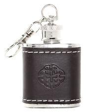 Scottish 1oz Celtic Knot Stainless Steel Keyring Hip Flask Wedding Gift