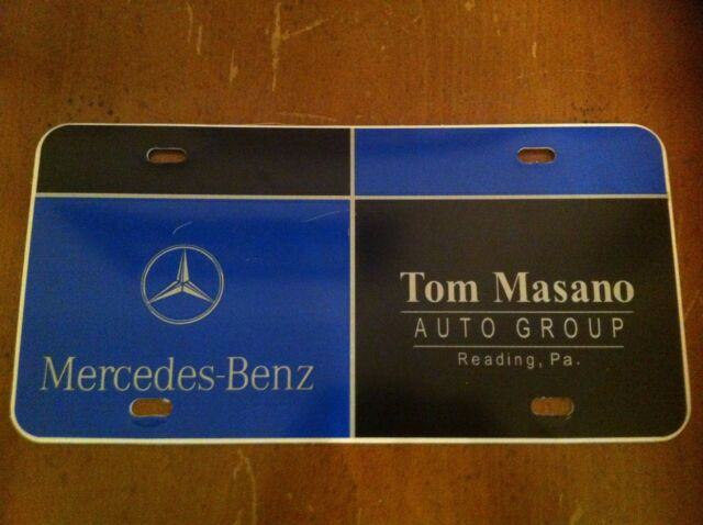 Rare License Plate Mercedes Benz Tom Masano Auto Group Reading Pennsylvania  PA