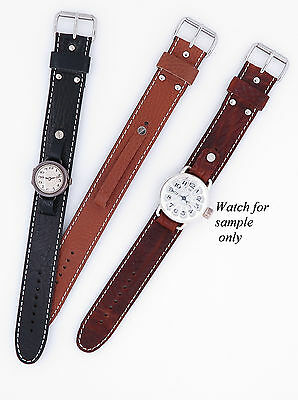Vintage Style Leather Watch Strap fit Wire Lug Size 8/9/10/11/12/13/14mm(2-14)