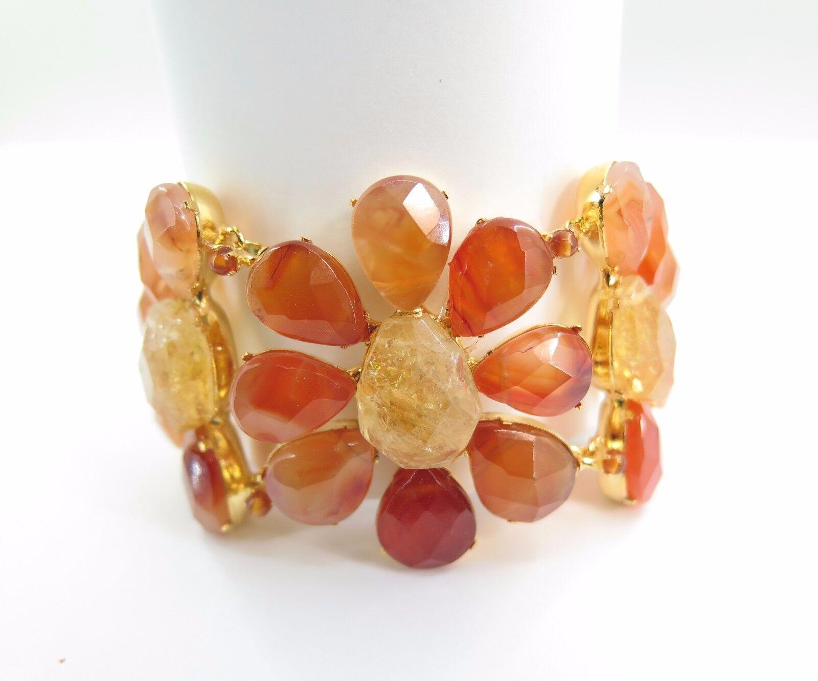 Gemstone Bracelet, Carnelian with citrine Bracelet, Natural Stone , Handmade