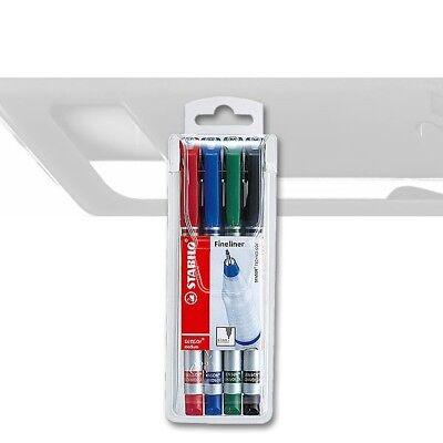 Stabilo Sensor 4er Etui Fineliner im Kunststoffetui 1,21€//Stück