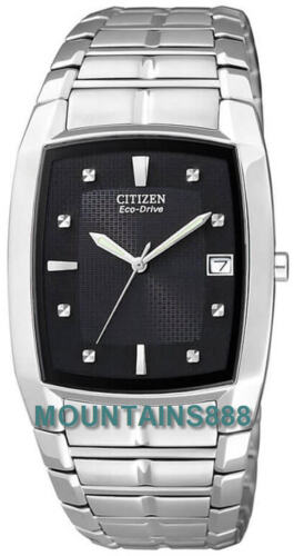 CITIZEN EcoDrive ,LowChargeIndicator,StainlessSteel,WR,Date,Men,BM655058E