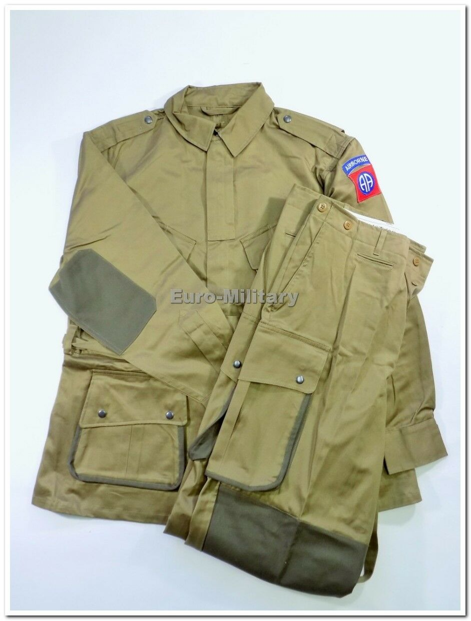 WW2 US Army M42 Paratrooper Reinforced Suit - 82th Airborne Division - Repro New