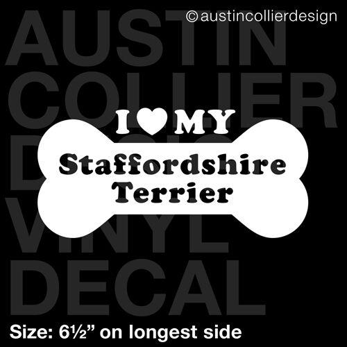 "6.5/"" STAFFORDSHIRE TERRIER vinyl decal car window laptop sticker dog breed"
