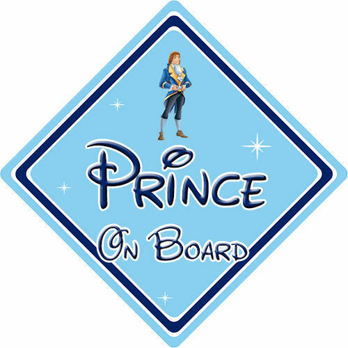 Baby On Board Beauty /& The Beast Disney Prince On Board Car Sign