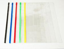 Bill Zipper Bag 442x320mm 0.14mm PVC Plastic Envelope with Sliding Lock Assorted