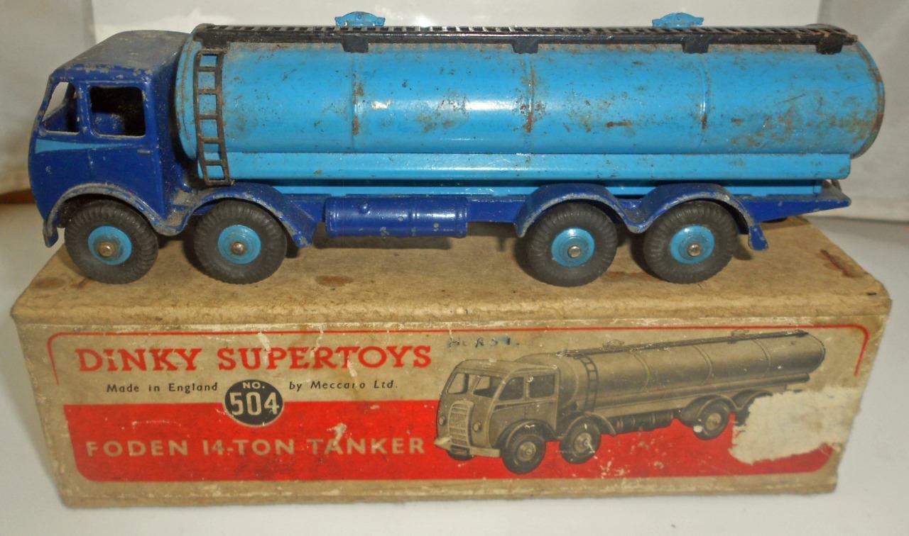 En Caja Vintage Dinky súperJuguetes Foden 14 Ton Cisterna 1st tipo taxi no 504
