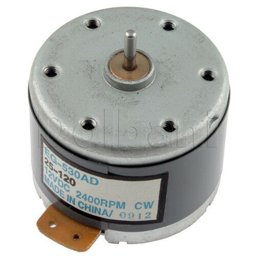 2400RPM EG-530AD-2B Recorder Motor Audio Spindle Motor for Tape Deck DC 12V CCW