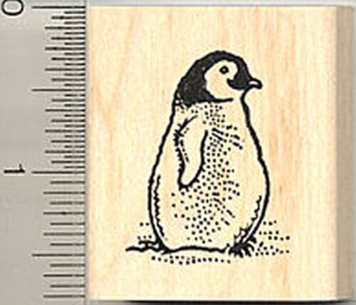 Penguin Chick Rubber Stamp D7913 Wood Mounted CUTE!