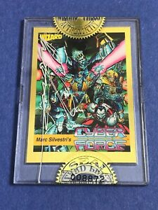 VTG-Cyberforce-SEALED-Wizard-Gold-Card-AUTOGRAPHED-Marc-Silvestri-Signed-Creator