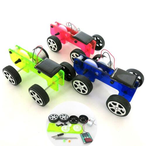 Educational DIY Car Kit Mini Solar Powered Toy  Children Gadget Kids Funny Gift