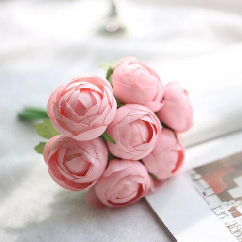Artificial Fake Peony Silk Flower Bridal Ranunculus Home Wedding Garden Decor
