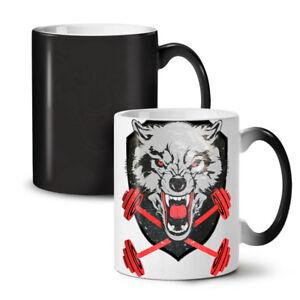 Wolf Gym Workout Sport NEW Colour Changing Tea Coffee Mug 11 oz | Wellcoda
