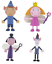 Official-Comansi-Ben-And-Holly-039-s-Little-Kingdom-Figures-Toys-Cake-Topper-Toppers thumbnail 1