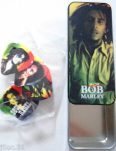 BOB-MARLEY-10-MEDIATORS-PICKS-just-for-fun-pour-guitare