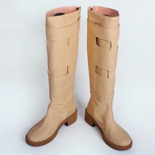 Padme Amidala Bottes le film Star Wars Cosplay Chaussures pour femme Beige polyuréthane bootsaa
