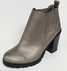 e45d4e8ea1f Details about SAM & LIBBY DEANNA WOMEN'S METALLIC COLOR ANKLE BOOTS CHUNKY  HEEL PULL ON NWOB