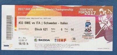 Schweiz Spiel 64 VIP TICKET Eishockey WM Finale 20.5.2018 Schweden