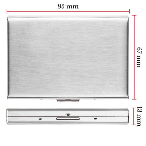 ALUMINUM METAL SLIM ANTI-SCAN CREDIT CARD HOLDER RFID BLOCKING THIN WALLET CASE
