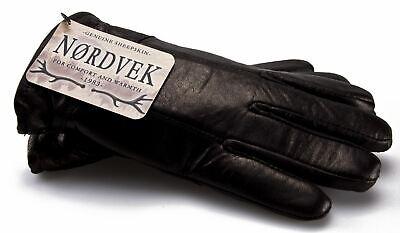 Dynamisch Nordvek - Herren Leder-handschuhe Mit Schaffell-futter - Warm Im Winter