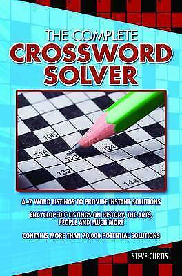 """AS NEW"" Steve Curtis, The Complete Crossword Solver Book"
