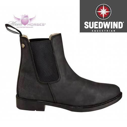 Suedwind WINTER Jodhpurstiefelette Stiefelette Leder schwarz gefüttert