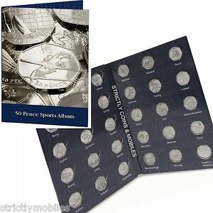 DISCONTINUED-Olympic-50p-Collector-Coin-Album-for-29-Coins-amp-Completer-Medallion