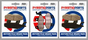 Front & Rear Brake Pads (3 Pairs) for Triumph 900 Daytona, Sprint 1993