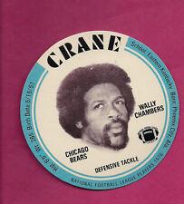 RARE 1976 CRANE POTATO CHIPS WALLY CHAMBERS FOOTBALL DISK MINT CARD (INV#0553)