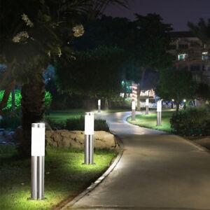 6x Led Steh Lampen Außen Beleuchtung Veranda Edelstahl Strahler