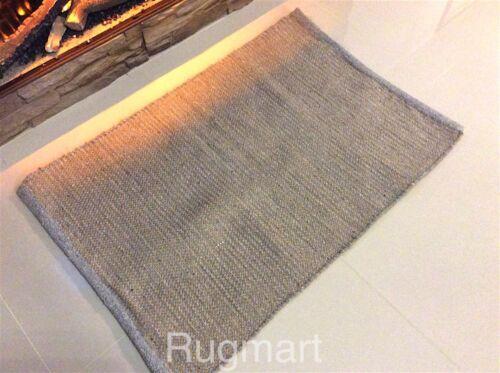 30/% Off À Rayures En Coton Gris /& jute réversible washabl Kilim Tapis Tapis 60x90cm