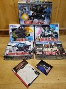 Lot-de-5-Bandai-Mobile-Suit-Gundam-08th-Miss-Team-Ez8-Zaku-GM-Gouf-amp-Tech-Manuel