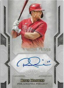 2021 Topps Tier One Next Level RHYS HOSKINS Auto Silver /10