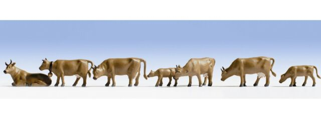Noch Dark Brown Cows 15722 HO Scale (suit OO Also)