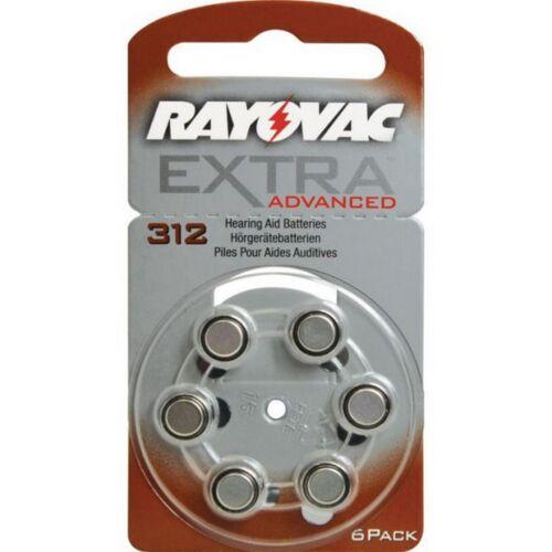 600 x Rayovac Hörgerätebatterien 312 Extra Advanced 1,45V 180mAh 312AU-6XEMF
