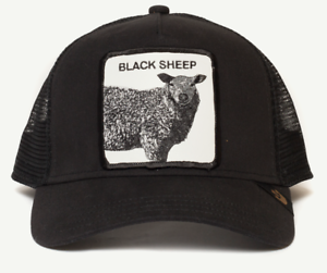 ee1034769f96e Goorin Animal Farm Trucker Snapback Baseball Hat Cap Black Sheep Be ...