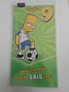 Personalised Handmade Bart Simpson with football Birthday Card