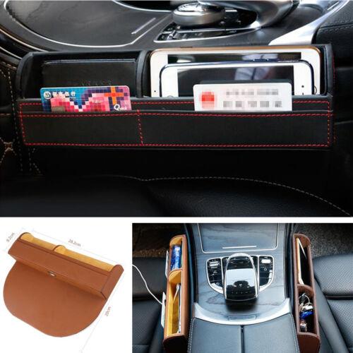 Schwarzer Autositz Spalt Aufbewahrungsbox Case Telefonkarten Münzen Organizer