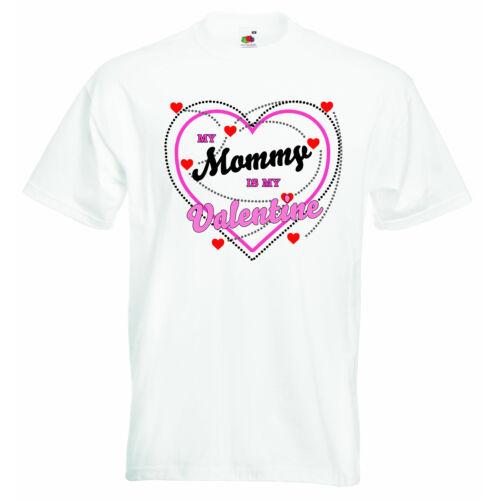 Mon momie est My Valentine Jour Nouveau Personnalisé Bébé Garçons Filles Vêtements T-shirt