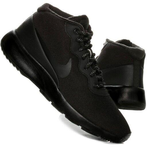 Nike Mens Tanjun Chukka Mid Fashion Sports Trainer Water Repellent  All Black