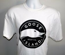 NEW MENS GOOSE ISLAND BEER CO T SHIRT LARGE WHITE CHICAGO
