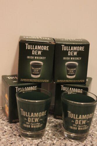 4 Four Pcs Tullamore Dew Irish Whiskey Shot Glasses New Original Boxes Free Sh