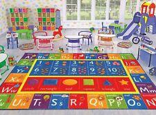 kids play mat alphabet abc numbers shapes educational large area rug 5u0027 x